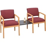 Lesro Lenox Modular Reception Collection in Standard Fabric; 2 Chairs with Connecting Center Table