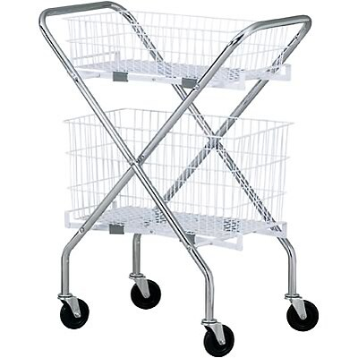 Clinton™ Industries s Folding Basket Cart; Two 12 Baskets