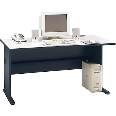 Bush® Cubix® Collection in Slate Finish; 60 Desk, Ready to Assemble