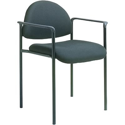 Boss® B9501 Series Fabric Stacking Chairs With Arms; Black