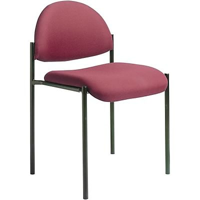 Boss® B9505 Series Fabric Stacking Chair Without Arms; Burgundy