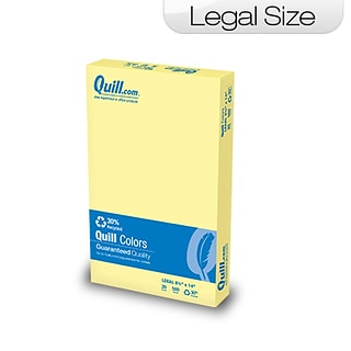 Quill Brand® 8-1/2x14 Yellow Paper