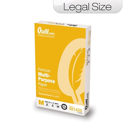 Quill Brand® Premium Multi-Purpose Paper; 8-1/2x14, Legal Size
