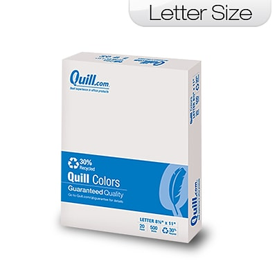 Quill Brand Colored Paper; 8-1/2x11, Letter Size, Grey, 500 sheets