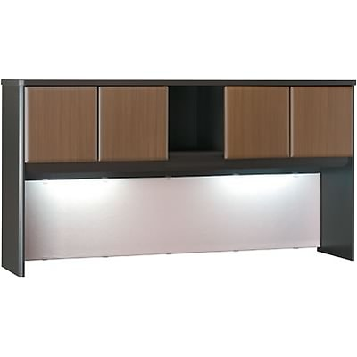 Bush® Cubix® Collection in Sienna Walnut/Bronze Finish; Hutch, 72W, Fully Assembled