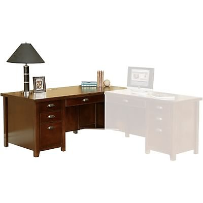Martin Furniture Tribeca Loft Collection in Cherry Finish; Left Pedestal Executive Desk