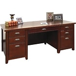 Tribeca Loft Pedestal Cherry Desk