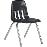 Virco 18 Black Ventilated Plastic Chair