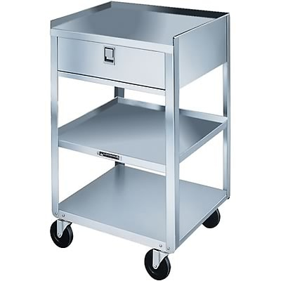Stainless Steel Utility Cart; Single Drawer