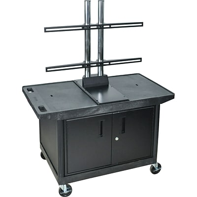 Luxor® Flat Panel LCD Screen Cart with Storage Cabinet