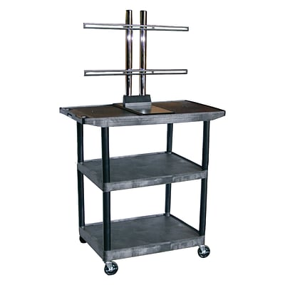 Luxor® Flat Panel LCD Screen Cart with Shelves