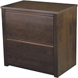 Bestar® Prestige+ Chocolate Brown Contemporary Collection, Lateral File, Fully Assembled