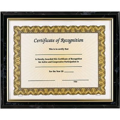 Awards4Work® Executive Frames; Black Marble