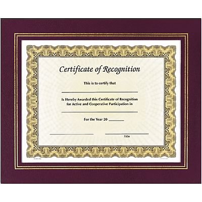 Awards4Work® Leatherette Frames; Mahogany