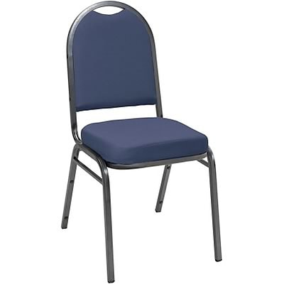 KFI® 520 Series Fabric Padded Seat Stacking Chairs; Blue, Silver Vein Frame