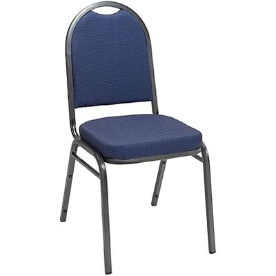 KFI® 520 Series Fabric Padded Seat Stacking Chairs; Blue Pindot, Silver Vein Frame