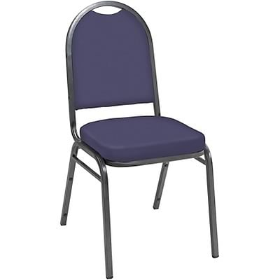 KFI® 520 Series Vinyl Padded Seat Stacking Chairs; Navy, Silver Vein Frame
