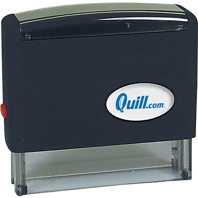 Quill Brand® Self-Inking Stamp; 7/16x2-3/4, Up to 2 Lines