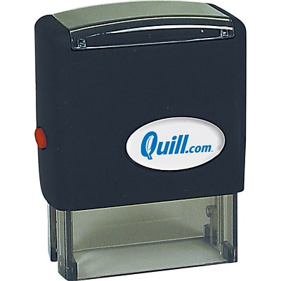 Quill Brand® Self-Inking Stamp; 3/4x1-15/16, Up to 4 Lines