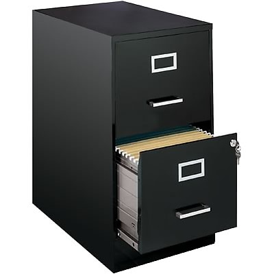 OfficeDesigns® 2-Drawer Vertical File Cabinet, 22 Deep, Black