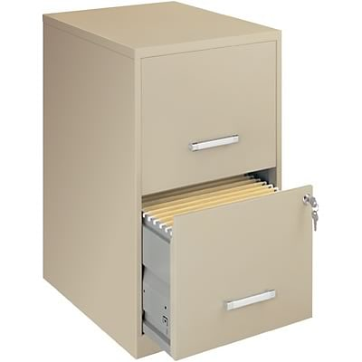 OfficeDesigns® Economy 18 Deep Files, 2-Drawer, Putty