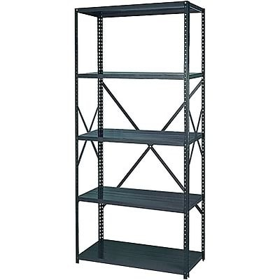 Edsal® 36-Wide Industrial-Grade Open Shelving; 12 Shelves, 5-Shelf