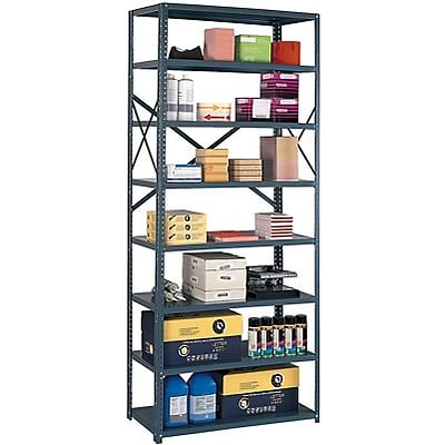 Edsal® 36-Wide Industrial-Grade Open Shelving; 12 Shelves, 8-Shelf
