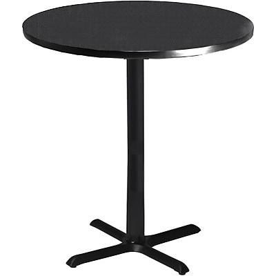 Tiffany Industries™ Bistro Hospitality Round Tables; 41Hx30 Dia., Charcoal Anthracite