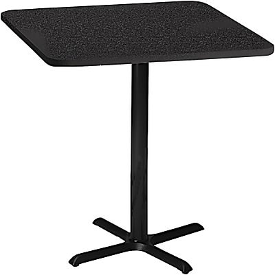 Tiffany Industries™ Bistro Hospitality Square Tables; 41Hx30W, Charcoal Anthracite
