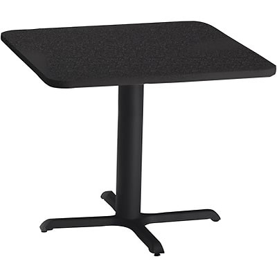 Tiffany Industries™ Bistro Hospitality Square Tables; 28Hx30W, Charcoal Anthracite