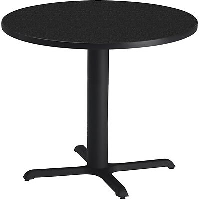 Tiffany Industries™ Bistro Hospitality Round Tables; 28Hx36 Dia., Charcoal Anthracite