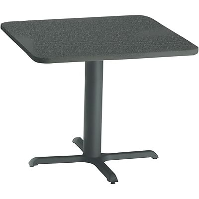 Tiffany Industries™ Bistro Hospitality Square Tables; 28Hx36W, Charcoal Anthracite