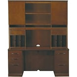 Safco Sorrento Collection in Bourbon Cherry; Credenza with Hutch