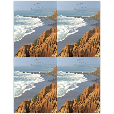 Medical Arts Press® Laser Postcards; Waves Breaking on a Beach