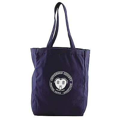 All Purpose Tote; 15x11x5, Navy Blue
