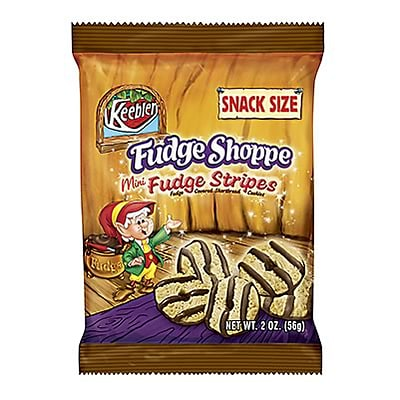 Keebler® Fudge Stripe Cookies; Mini, 2-oz., 60/Case
