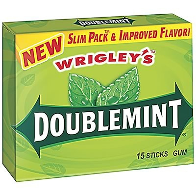 Wrigleys Slim Pack™ Doublemint® Gum; 15 Sticks/PK, 10 Packs/BX