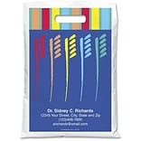 Medical Arts Press® Dental Personalized Full-Color Bags; 9x13, Large Toothbrushes