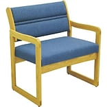 Dakota Wave by Wooden Mallet Deluxe Fabric Collection; Bariatric Sled Base Chair