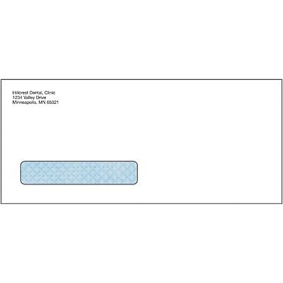 2003, 2004, 2006, 2012 ADA Dental Window Claim Envelopes; Peel & Seel®, Tinted, Personalized, 500/Bx