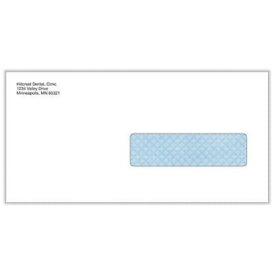 Medical Arts Press® Insurance Claim Form Env; Personalized, Right Window, PEEL & SEEL®, 500/Box