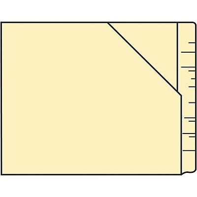 Medical Arts Press® WaterShed® End-Tab Diagonal-Cut File Pockets
