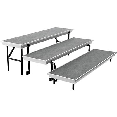 National Public Seating® Trans-Port Risers, Tapered