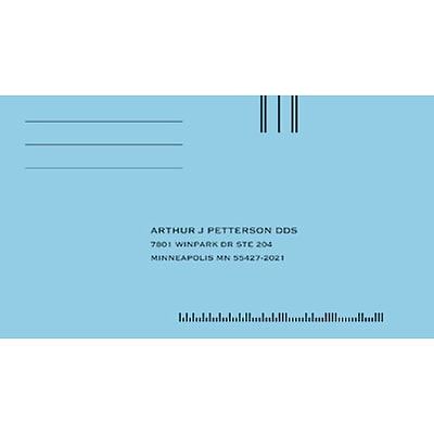 Medical Arts Press® Imprinted #6-1/2 Billing/Reply Envelopes; Gummed, Blue, 500/Box