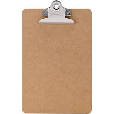 Quill Brand® Hardboard Tan Clipboards; Memo size, 6x9