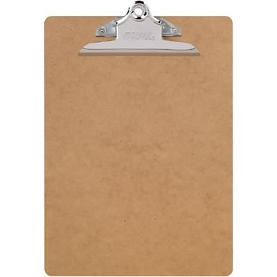 Quill Brand® Hardboard Tan Clipboards; Letter size, 9x12-1/2