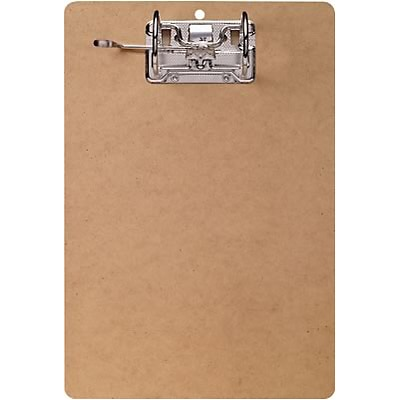 Quill Brand® Hardboard Clipboard, Arch Clip, Letter Size, 9 x 13, Tan (22099-QCC)