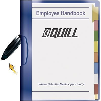 Quill Brand® Professional Swing Arm Report Covers, Letter Size, Blue, 5/Pack (17417-QCC)