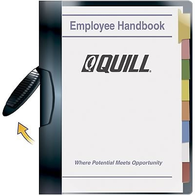 Quill Brand® Professional Swing Arm Report Covers; Black