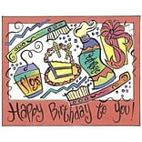 Medical Arts Press® Dental Birthday Cards; Modern Art,  Personalized